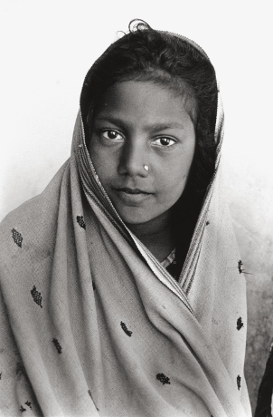 Tribal Girl,Kutch,Gujarat,Portrait,India,gelatin silver print