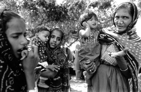 Garasia Jat, tribal family,Portrait,Kutch,Gujarat,India,gelatin silver print