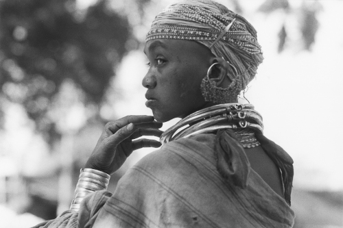Young Bonda Woman,Orissa,India,gelatin silver print
